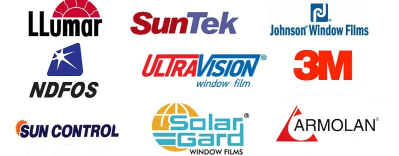 Изображение логотипов производителей пленок, с которыми мы работаем